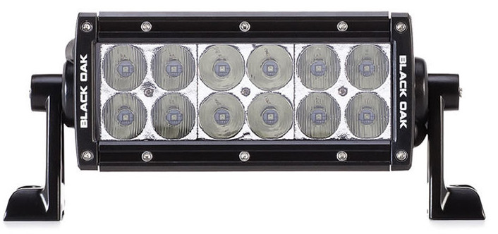 Black Oak 6-Inch D-Series LED Light Bar with Your Choice of 3W or 5W Osram LEDs