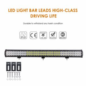Auxbeam LED Light Bar 198W Combo 66pcs 3W CREE Driving Light Waterproof for Off-Road Truck 4x4 Military Mining Boating Farming and Heavy Equipment