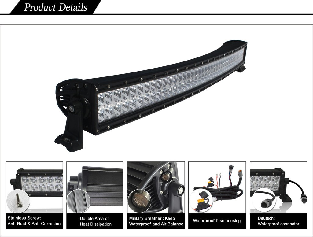 Black Oak 40-Inch D-Series Dual-Row Curved LED Light Bar Specs
