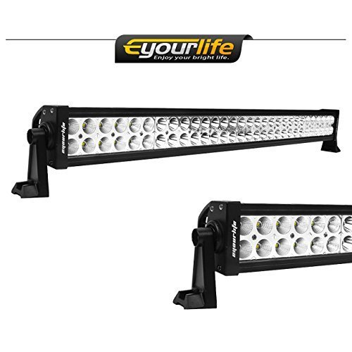 Eyourlife 32-Inch 180W Off-Road FloodSpot LED Light Bar