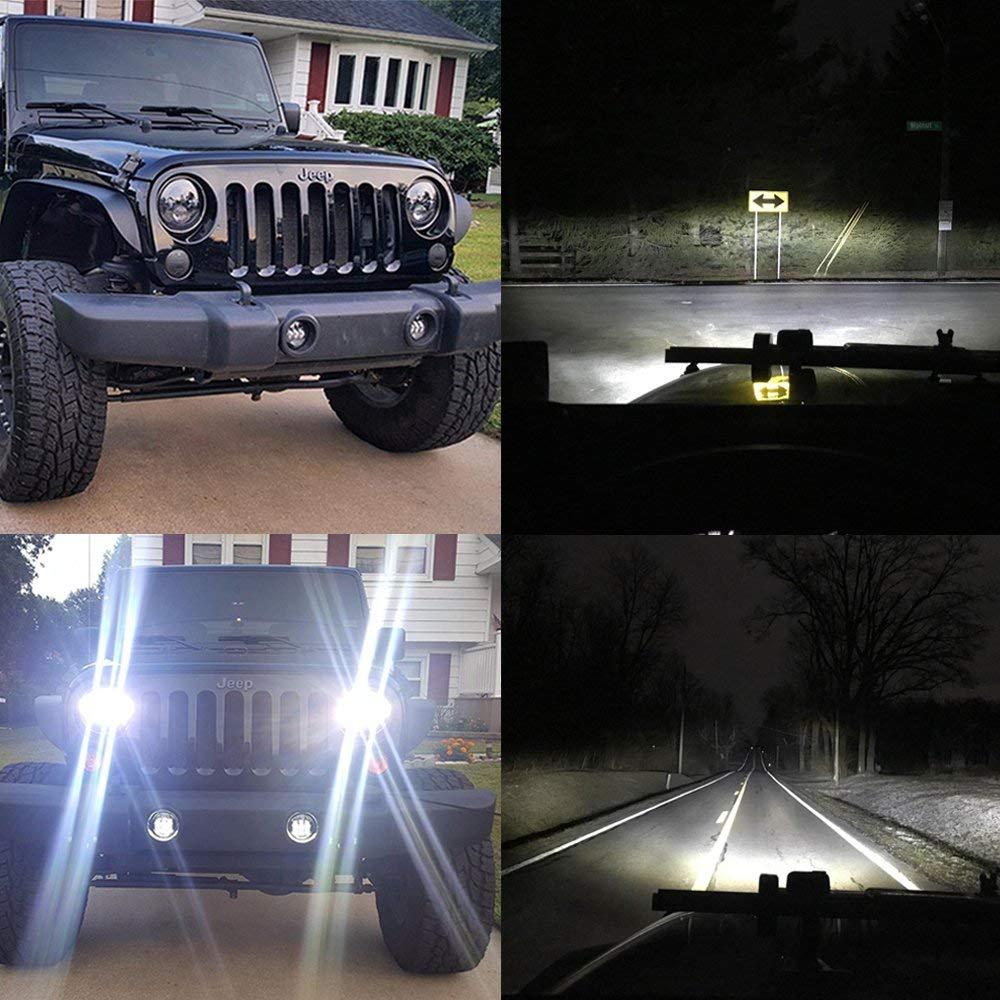 LX-LIGHT DOT Approved 7'' Black LED Headlights