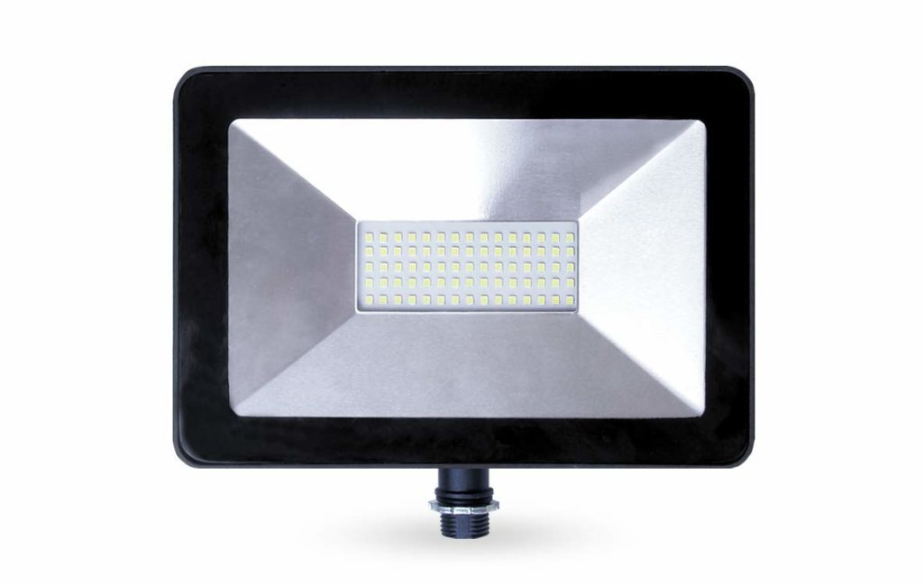 LLT 50W LED Flood Light with Knuckle, 5000k, 4000lm, Super Slim Outdoor LED Floodlight, IP65, Suitable for Wet Locations, 110V-130V, Black