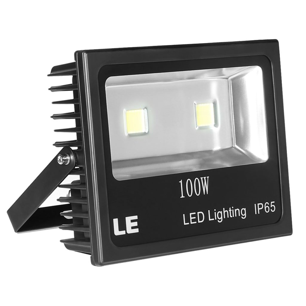 LE Outdoor LED Flood Light, 100W 10150LM, IP65 Waterproof, 250W HPS Equivalent, Daylight White 6000K, 120° Beam Angle, Security Floodlight for Home, Backyard, Patio, Garden, Tree and More