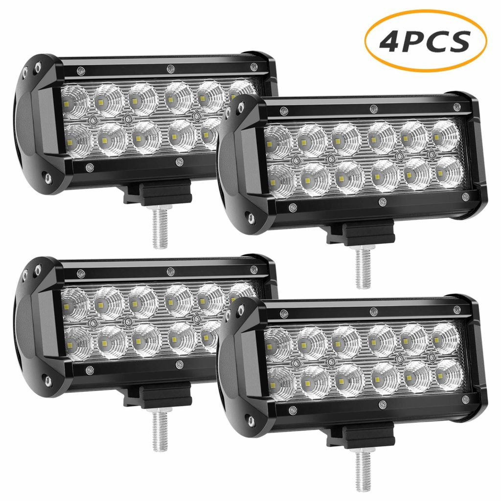 4 X 36w 3600 Lumens LED Light Bar, YEEGO Cree LED Flood Lights for Off-Road Rv Atv SUV Boat Jeep Truck SUV ATV Tractor Pickup Lighting 2 Years Warranty( 4Pack-36W Flood Light)