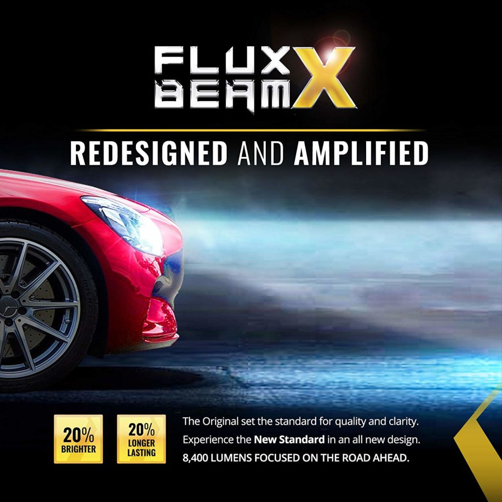 OPT7 Fluxbeam X H13 9008 LED Headlight Bulbs w/Arc-Beam Lens - 8,400LM 6000K Daytime White - All Bulb Sizes - 80w - 2 Year Warranty